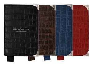 Passport Holder Genuine Crocodile print Cow Leather Case Pouch Cover