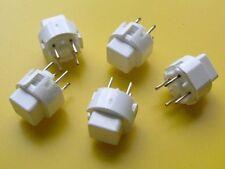 5 Stück ITT D6C00 Tact Switch SPST-NO 11,4x11,4mm, h=9,8mm (M3782)