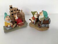 Disney's Snow White & The Seven Dwarfs - Sneezy/Doc & Bashful/Grumpy Figurines