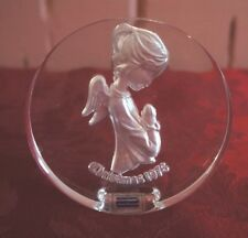 1976 Christmas Standing Glass Angel By Schmid: Made In Italy