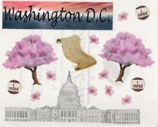 Creative Memories Block Sticker WASHINGTON DC, THE WHITE HOUSE,