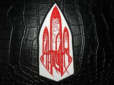 AT THE GATES  RED  LOGO    EMBROIDERED  PATCH
