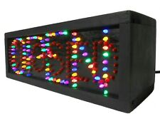 Vint Handmade Business 'Open/Closed' Illuminated Color Electric Light Box Sign