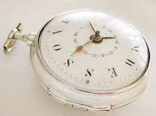 Verge fusee pair case Calendar Pocket watch William Brown London year 1798