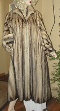 Beautiful Full Length Fitch German Sable Fur Coat *Fits Med - X- Large