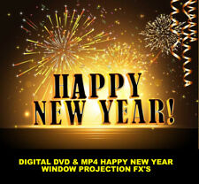 Happy New Year Fire works Digital Window Decorations Projector MP4 Movies FX