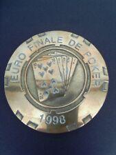 POKER - TROPHÉE PORTE CHANCE. PLAQUE EN BRONZE DE L'EURO FINALE TEXAS 1998