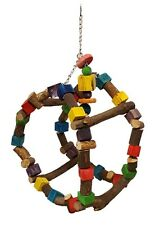 BIRD Toy Swing Wood Parrot Large