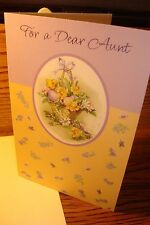 """EASTER : Aunt """" For a Dear Aunt """" Easter Greeting Card  .99 Special New e7"""