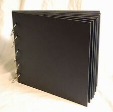 """Black Chipboard Album 8"""" x 9"""" 10 pages 5 of 1.5"""" rings"""