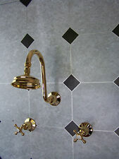 Manor House Dorf Gold Shower set 4''-100 mm head Wels 4 stars 7.5 L/m.
