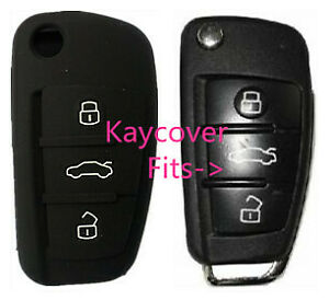 BLACK SILICONE CAR KEY COVER for AUDI A1 A3 Q3 Q7 R8 A6L TT