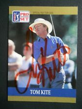 Tom Kite - 1990 Proset Autographed PGA Golf card # 6 - Tour card