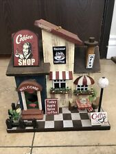Coffee Shop Diner Bird House Yard Art Fairy Garden Decoration Miniature Custom