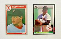 ROGER CLEMENS RC LOT 1985 Donruss #273 & Fleer #155,  CARDS ARE NEAR MINT