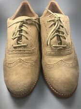 Sperry Top Sider oxfords suede nubuck non marking beige lace ups womens size 10
