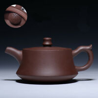 Chinese zisha tea pot solid color marked pot of tea 6oz yixing serving pot new