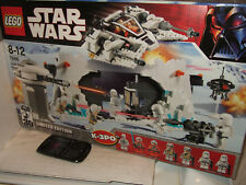 New Sealed Lego 7666 Hoth Rebel Base Multi-Piece Diorama set