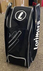 2021 Lorimers Platinum Black White Duffle Cricket Bag Size: 80 x 40 x 25cms