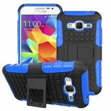 Proof Hard Case Heavy Duty Survivor Tough Shock Cover for Mobile PHONES Tablets Samsung Galaxy J3 (2016) Blue