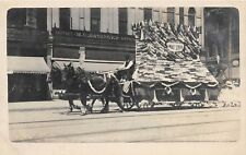 D2/ Lima Ohio Postcard Real Photo RPPC c1910 Parade Sunday School Basinger Store