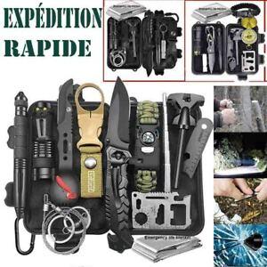 Militaire Survie Urgence Kit d'Extérieur équipement Camping Randonnée Sismique