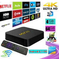 MX10 Smart TV BOX Android 8.1 Rockchip RK3328 4GB 64GB IPTV Wifi USB 3.0 HDR 4K~