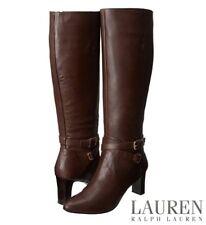 Lauren Ralph Lauren Nally Chelsea Boots Women's Dark Brown Burnished Calf Classy