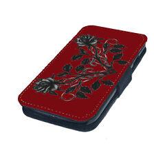 Fundas y carcasas color principal rojo de piel para teléfonos móviles y PDAs