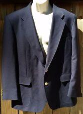 David Taylor 42S Navy Blue Gold Buttons Jacket Blazer 2 Button Front
