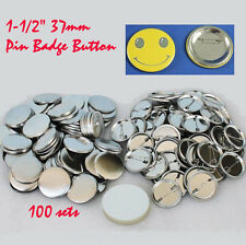 """1-1/2"""" 37mm Metal Pin for Button Machine Badge Button Parts School Diy party"""