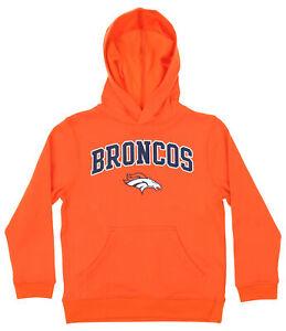 OuterStuff NFL Youth Boys Team Color Fleece Hoodie, Denver Broncos