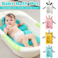 Cartoon Portable Baby Shower Bath Tub Pad Non-Slip Bathtub Mat Newborn Safety