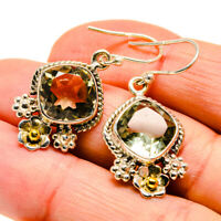 """Green Amethyst 925 Sterling Silver Earrings 1 1/2"""" Ana Co Jewelry E409908"""