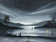 PETE RUMNEY ORIGINAL FINE ART OIL PAINTING BY 'HOUSE ON THE LAKE' ROMANITIC