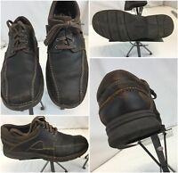 Clarks Oxford Shoes Sz 11.5 Men Brown Leather Worn Twice YGI C8