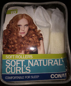 Conair Soft Rollers soft natural curl's comfortable for sleep 18 pieces Set New