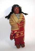"""Vintage 11"""" Native American Indian Skookum Minnetonka Blanket Male Doll"""
