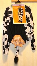 Target Brand Black & White Cow Costume Adult-One Size Fits Most