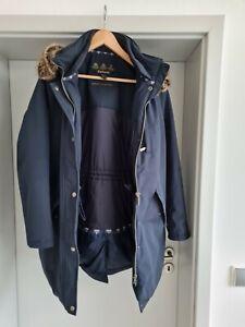 Tolle Barbour Jacke Damen Parka Mantel Gr 44 (XL) Blau!