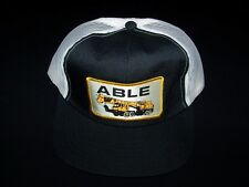 Able Construction Vintage Snapback 1980s hat mesh back truckers cap