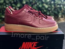 Nike Air Force 1 Low Premium NIKE iD Gum Burgundy SZ 10.5 New