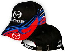 Mazda Black Red Baseball Cap 3D Embroidered Auto Car Logo Hat Mens Womens Gift