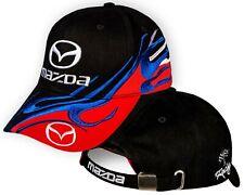 4bbc46abb7db2 Mazda Black Red Baseball Cap 3D Embroidered Auto Car Logo Hat Mens Womens  Gift