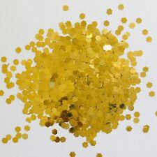 100 gram CHUNKY 3mm GOLD LARGE HEXAGON SEQUIN FESTIVAL FACE 125hex GLITTER NAILS