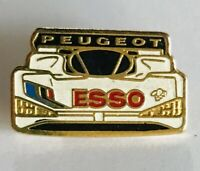 Esso Peugeot Motor Racing Car F! Formula One Pin Badge Rare Vintage (A3)