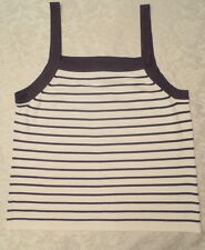 COLETTE MORDO SPAGHETTI STRAP TANK TOP - BLACK AND WHITE - SIZE XL - NWOT