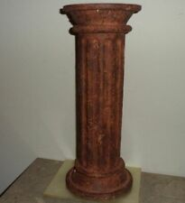 """12"""" Rustic Pedestal Display Riser Pillar Collectible Figurine Stand Party Home"""