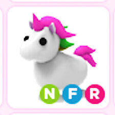 Neon Fly Ride NFR Unicorn - Adopt me pet ! Roblox