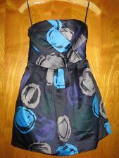 A/X Armani Exchange US 2 black green gray purple blue strapless silky dress